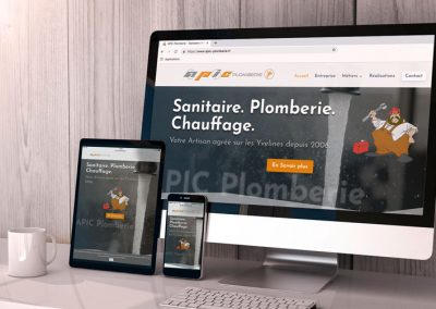 APIC Plomberie – Conception du Site Internet